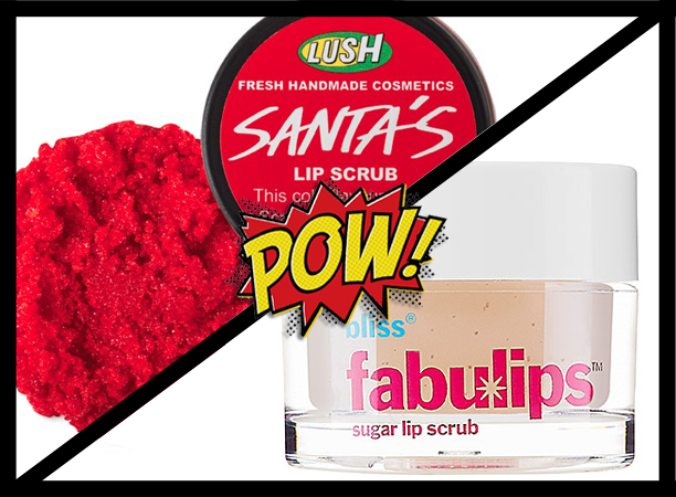 lush sugar lip scrub, Bliss fabulips lip scrub, skin care, beauty, chapped lips, winter