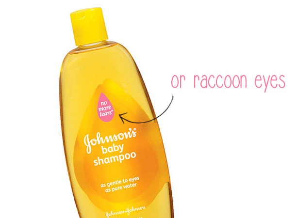 eye makeup remover, Johnson & Johnson's baby shampoo, beauty